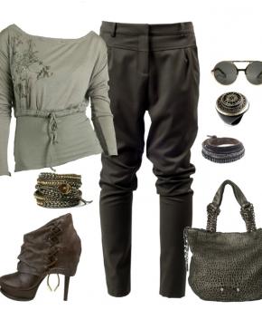 образ с брюками-галифе , брюки-галифе, готовые образы, мода осень 2014