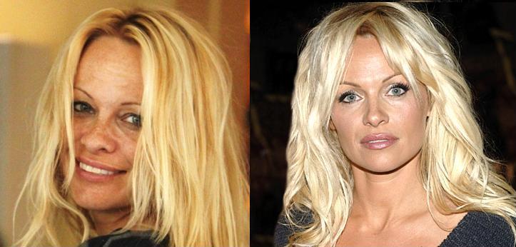 Памела Андерсон без макияжа фото, фото Памелы Андерсон, фото звезд без макияжа