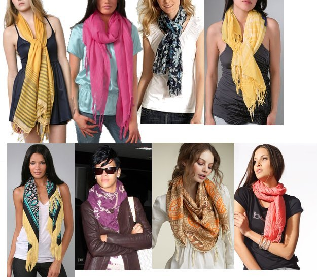 способы завязывания шарфа, как завязать шарф, идеи для завязывания шарфа