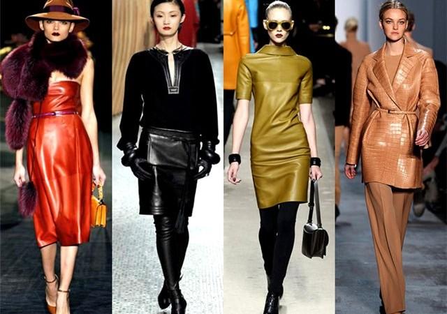 кожа, тренд сезона,новости моды