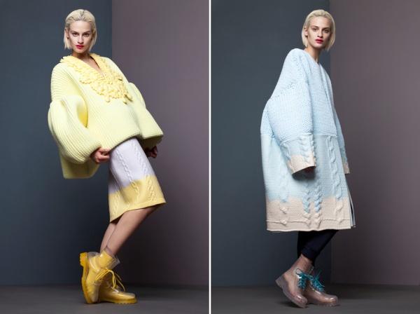 вещи оверсайз, новости моды 2014, как носить вещи оверсайз, комбинация вещей, подобрать вещи оверсайз