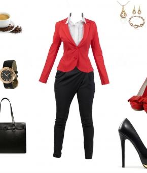 яркий офисный образ, одежда в офис, офисный образ, наряд в офис, готовый образ
