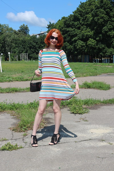 Платье полосатое, платье Karree, купить платье, полосатое платье Karree