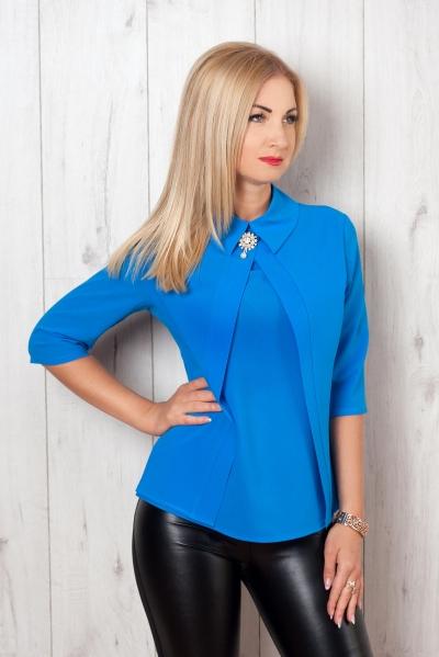 Блуза голубой S&L, блуза женская, купить блузу