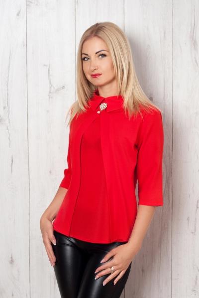 Блуза красный S&L, женская блуза, купить блузу, образ дня: блуза и лосины