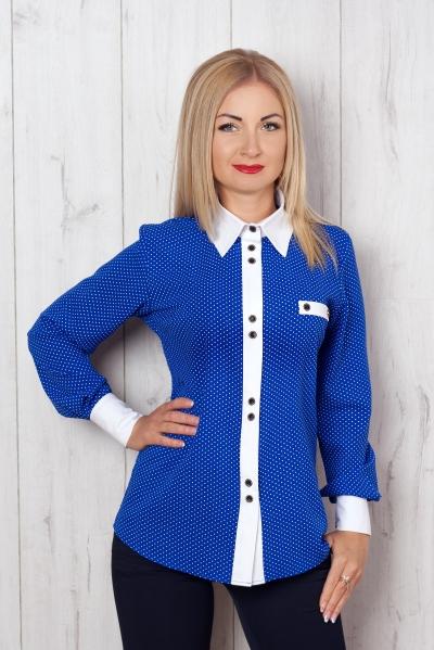 Рубашка синий S&L, рубашка женская, купить рубашку, купить рубашку женскую, новая коллекция женской одежды