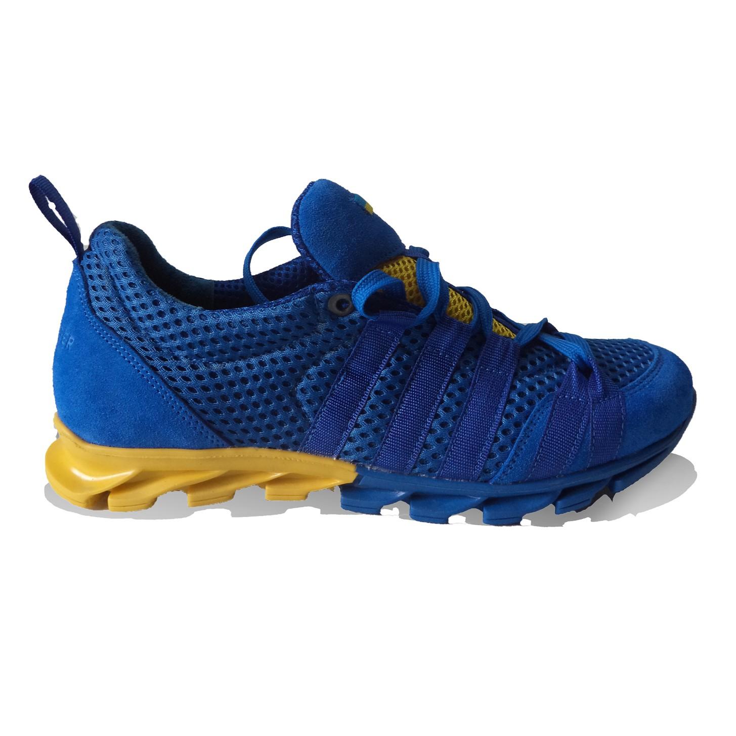 Кроссовки прогулочные Желто-синий Selena-eurostep C-841 купить обувь украинская обувь