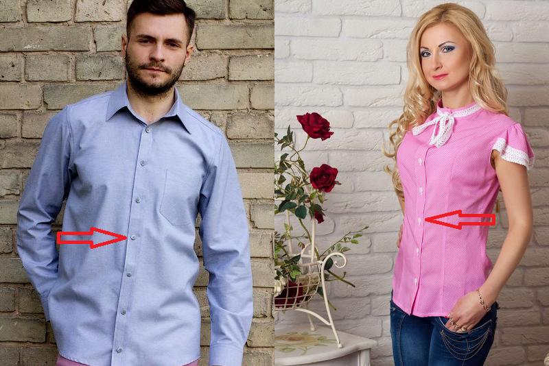 Почему на женских рубашках пуговицы слева, рубашки, женские рубашки
