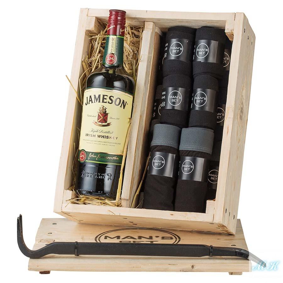 Подарочный набор MAN's BOX Jameson купить мужские трусы боксеры носки