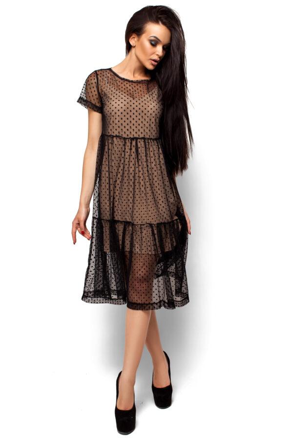 Платье Джина Черный Karree