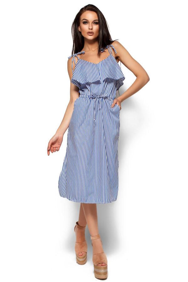 Платье Бохо Синий Karree