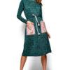 Платье Флайти Темно-зеленый Karree