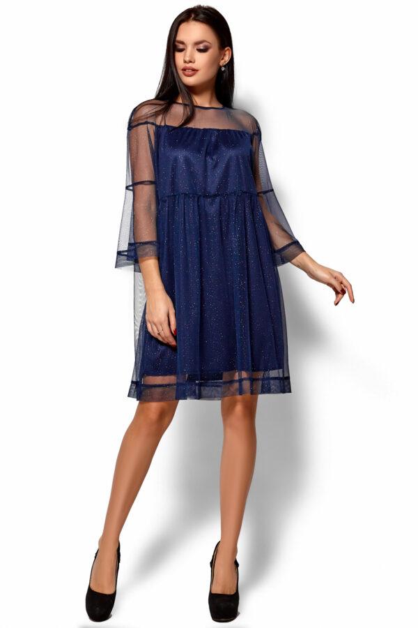 Платье Иви Темно-синий Karree
