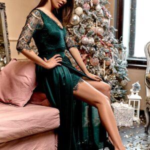 Платье Янина Темно-зеленый Karree купить Вечернее платье
