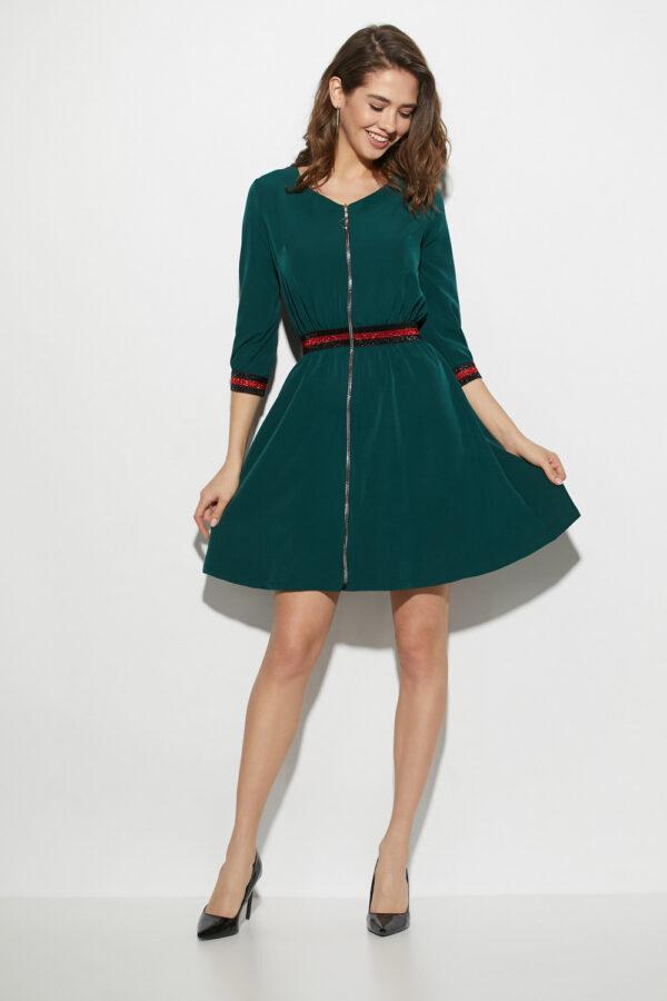 Платье Инфинити Темно-зеленый Karree