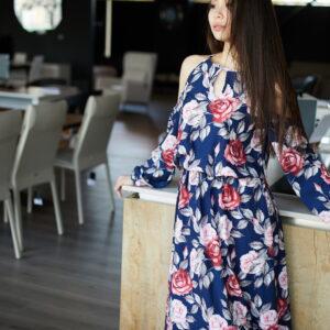 Платье Дельта Синий Karree купить Платье