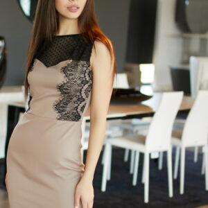 Платье Ким Темно-бежевый Karree купить Платье