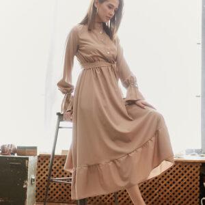 Платье Азия Темно-бежевый Karree купить Платье