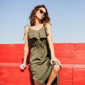 Платье Кастро Хаки Karree купить Платье