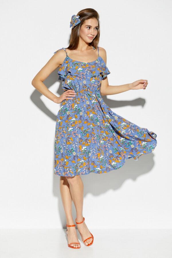 Платье Аква Синий Karree