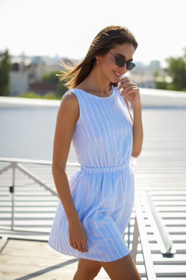 Платье Анаконда Голубой Karree