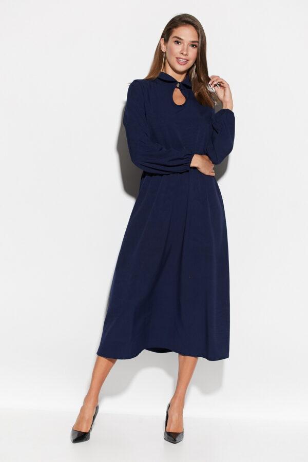 Платье Юста Темно-синий Karree