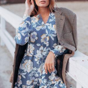Платье Стрит Голубой Karree купить Платье