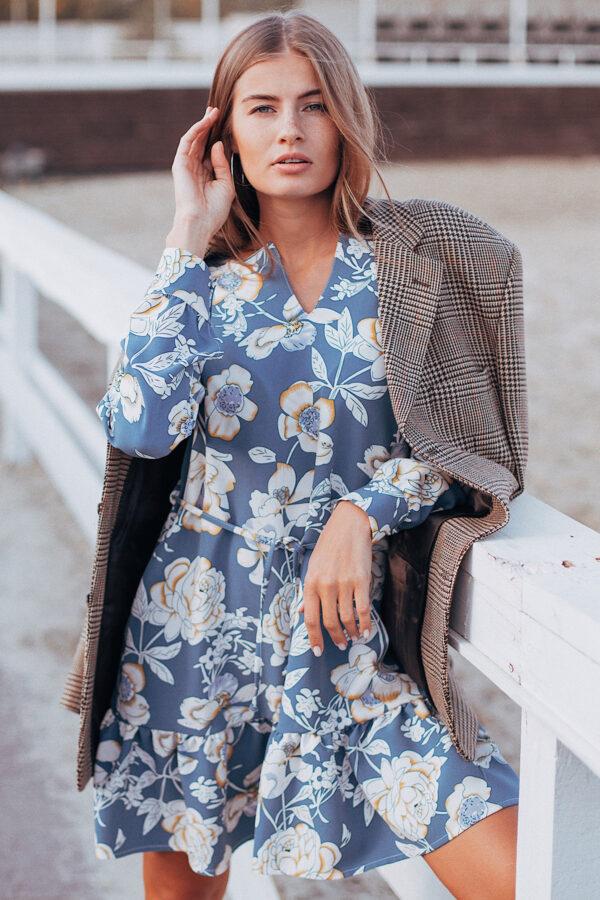 Платье Стрит Голубой Karree