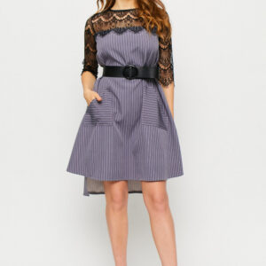 Платье Бертони Серый Karree купить Платье