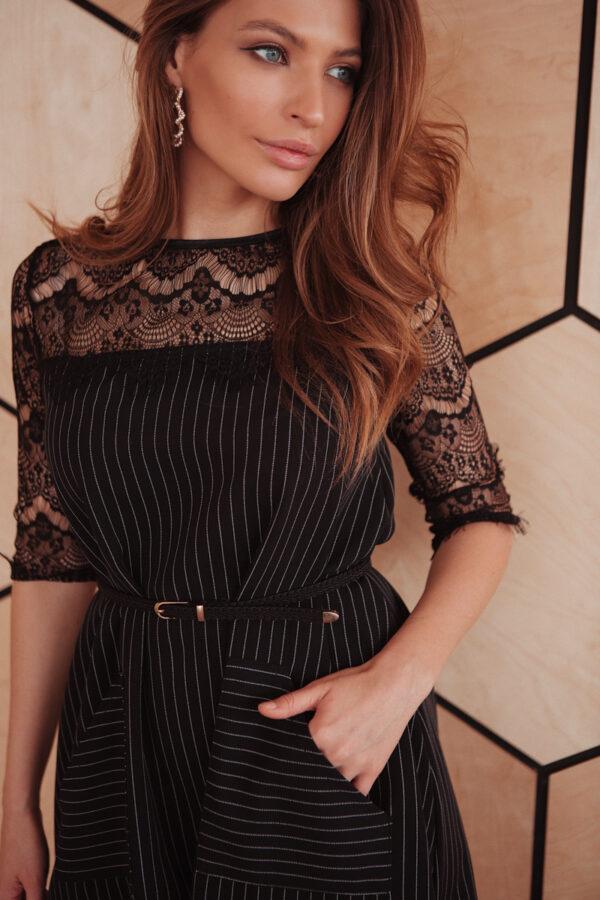 Платье Бертони Черный Karree