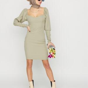 Платье Есмин Хаки Karree купить Платье