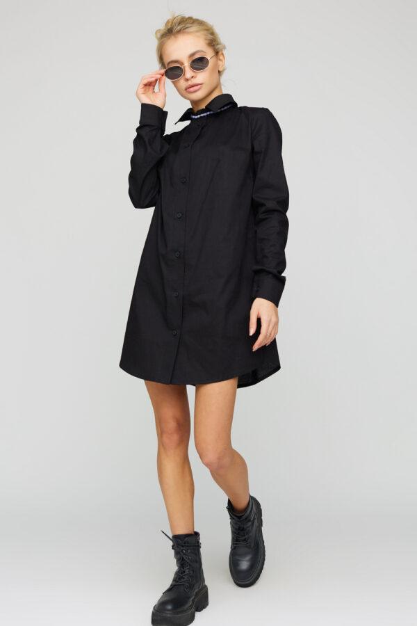 Платье-рубашка Джуди Черный Karree