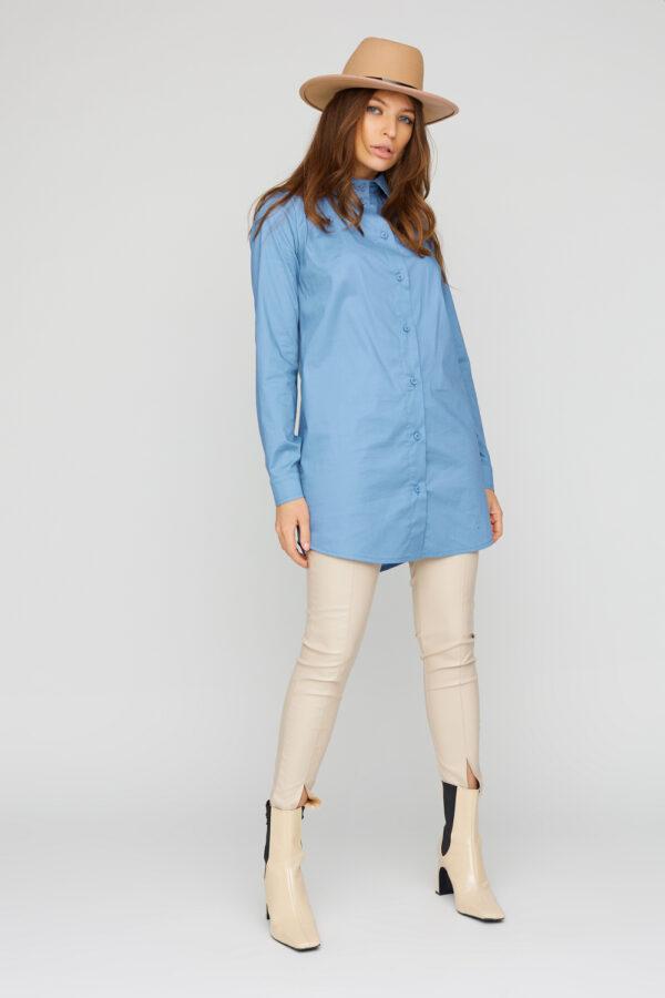 Платье-рубашка Джуди Голубой Karree