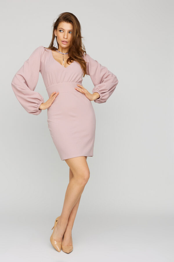 Платье Кармела Пудровый Karree