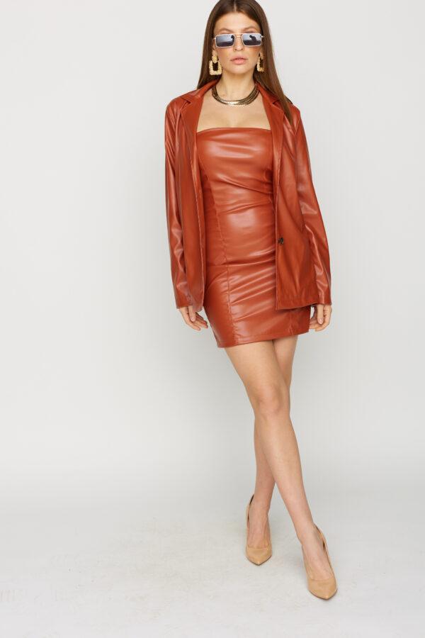 Платье Бренда Рыжий Karree